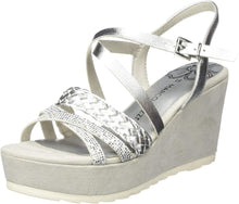 Load image into Gallery viewer, Marco Tozzi - Silver Wedge Sandal 28331