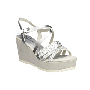 Marco Tozzi - Silver Wedge Sandal 28331