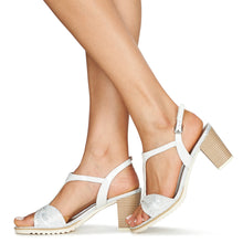 Load image into Gallery viewer, Marco Tozzi - White Sandal 28732