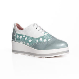 María Leon - Spot Lace Up Runner - Mint - 5350