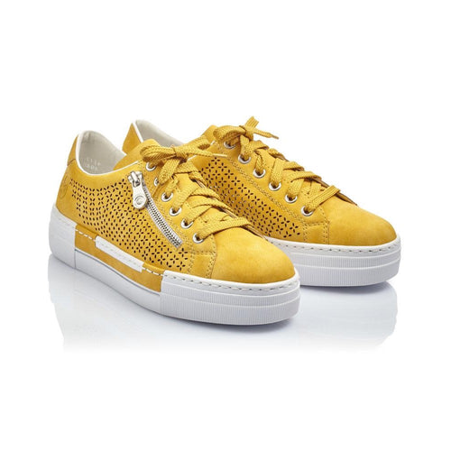 Rieker Womens Yellow Runner