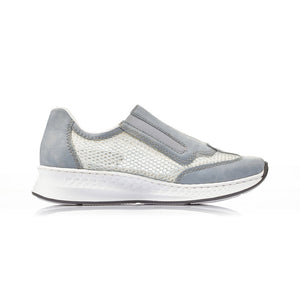 Rieker Womens Sky Blue Trainer