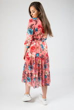 Load image into Gallery viewer, Pink Black Floral Dress 15897