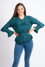Load image into Gallery viewer, Frill Jersey Top - 16066
