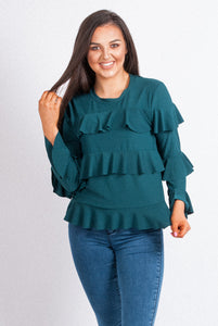 Frill Jersey Top - 16066