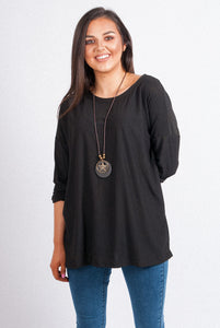 L/S Swing Top with Necklace - 8020