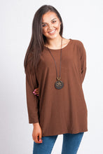 Load image into Gallery viewer, L/S Swing Top with Necklace - 8020