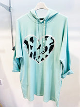 Load image into Gallery viewer, Lipstick – Heart Hoody - Mint - 10594