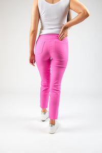 Robell – Trousers with Zip Ends - Fushia - 52490