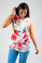Load image into Gallery viewer, Robell – Floral Blouse - White - 54405