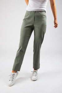 Robell – Turn Up Trousers  – Khaki – 51568
