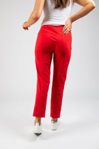 Robell – Turn Up Trousers  – Red – 51568