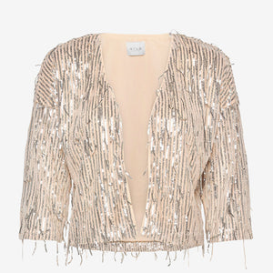 Vila - Romanti Sequin Coverup - Frosted Almond