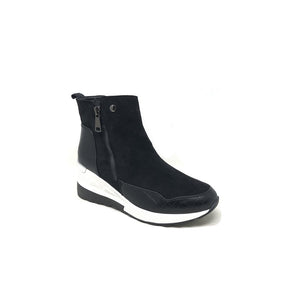 Forever Folie – Wedge Boot - Black - F5721