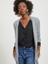 Load image into Gallery viewer, Viril Long Sleeved Long Knit Cardigan - Dark Grey