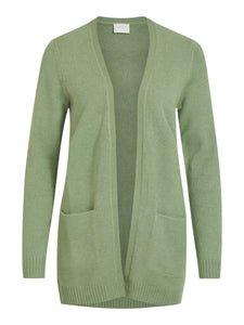 Viril Open Long Sleeved Knit Cardigan - Green