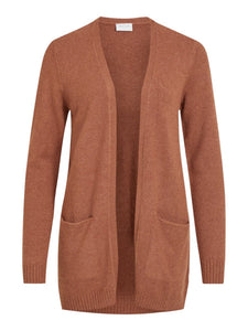 Viril Open Long Sleeved Knit Cardigan - Camel