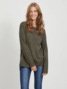 Viril High Low Long Sleeved Knit Top