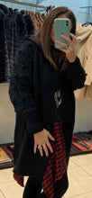 Load image into Gallery viewer, Azaka - Long Sleeved Bobble Sleeve Cardigan - Black - at7073