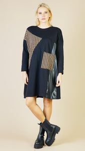 Lipstick – Houndstooth Dress - Black - G1575