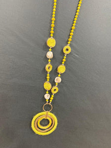 Lipstick – Necklace  – Yellow – DL0107-16