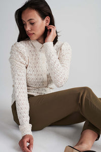 Freequent – Long Sleeved Shirt - Cream - Milady-SH