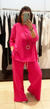 Load image into Gallery viewer, Pink Black – Plain Tracksuit - Fushia - 17532-521