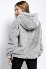 Load image into Gallery viewer, DA Fashion - Short Fur Hooded Jacket - Grey - XY76