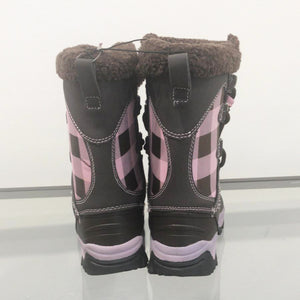 Lipstick – Check Snowboots – Kids – Pink / Brown