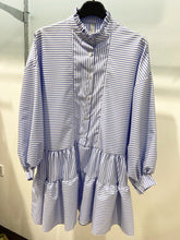 Load image into Gallery viewer, Lipstick – Frill Stripe Blouse - Blue - 17589