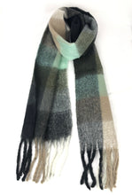 Load image into Gallery viewer, Lidy Scarf - Black/Green - 91178
