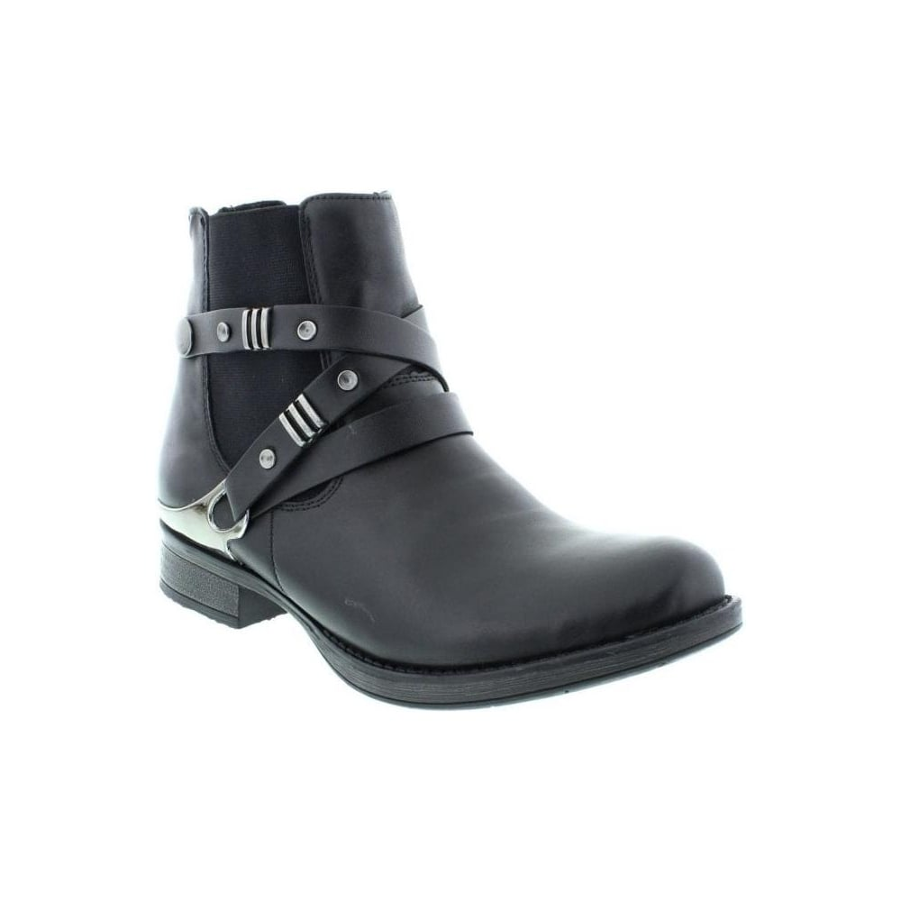 Remonte – Fleece Lining Ankle Boot – D4176 - Black