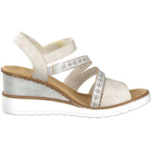 Load image into Gallery viewer, Rieker – Wedge Sandal – Beige - V3551