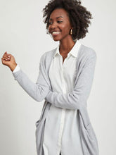 Load image into Gallery viewer, Viril Long Sleeved Long Knit Cardigan - Light Grey