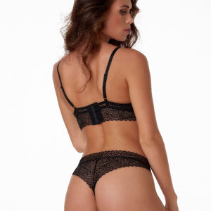 Margreth-String graphical lace 10.35.6114-020 020 Black