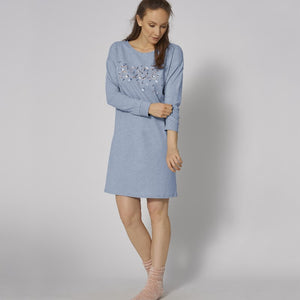 Nightdresses NDK LSL 10 10198923 M007 BLUE - LIGHT COMBINATION