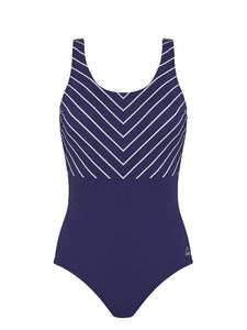 Pool swimsuit 108082 1150 graphic lines