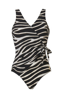 V-neck swimsuit 20207 2193 zebra