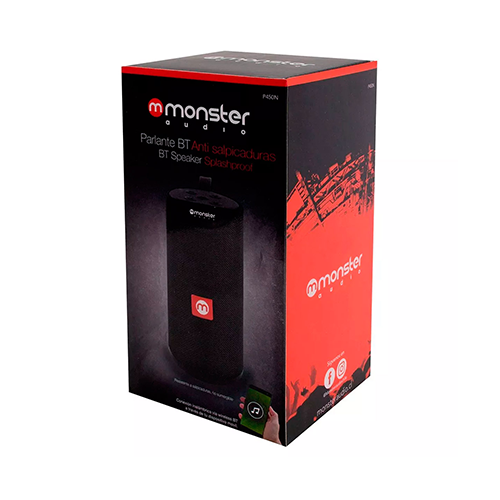 Parlante Negro BT Anti Salpicaduras Monster P450N
