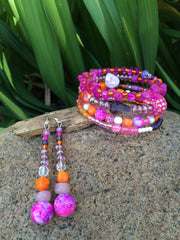 Orange and Pink Crystal Party Set