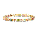 14K Gold Bracelet with Tourmaline Gemstones
