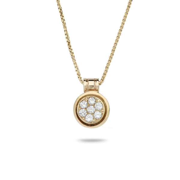 18K Gold pendant with 0.20 carat diamonds and 14K gold chain 16 inch