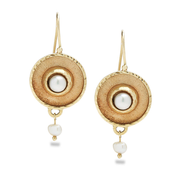 14K Gold earringswith pearls