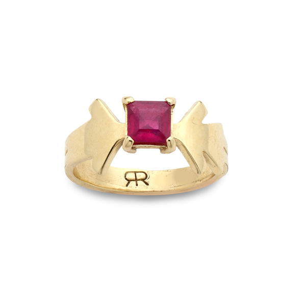 14K Gold Ring with Ruby