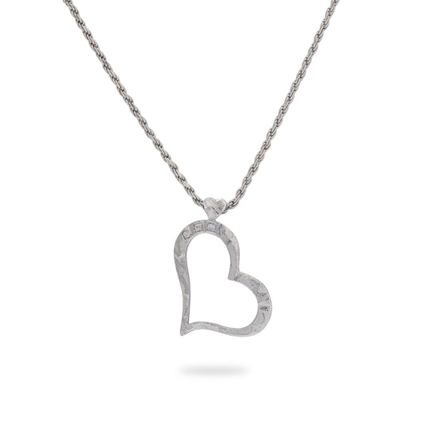 OKSH7 925 Silver Heart Pendant with Cubic Zirconia