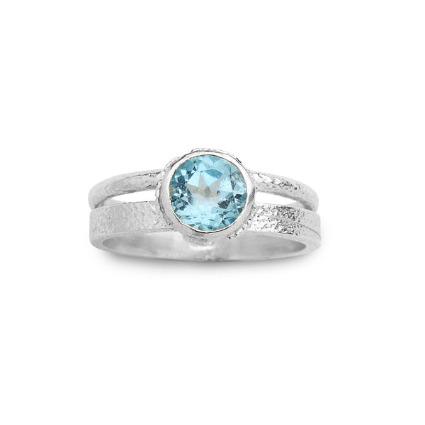 925 silver Ring with Blue Topaz Gem stone