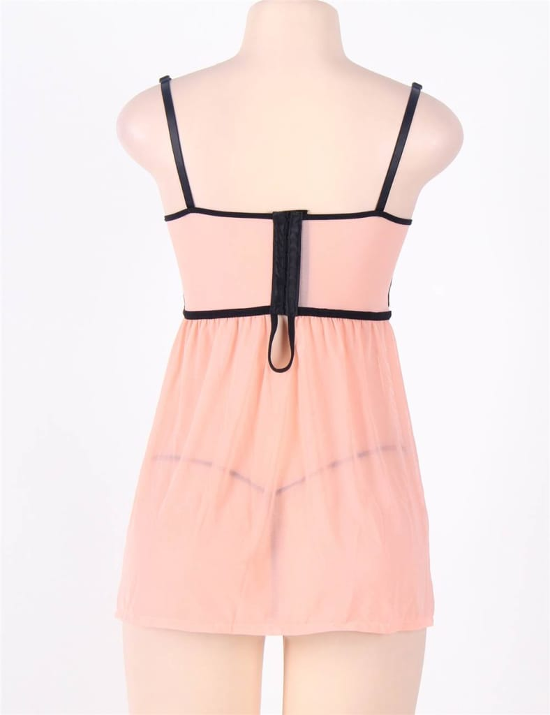 Camisole Lace Embroidered Cup Babydoll