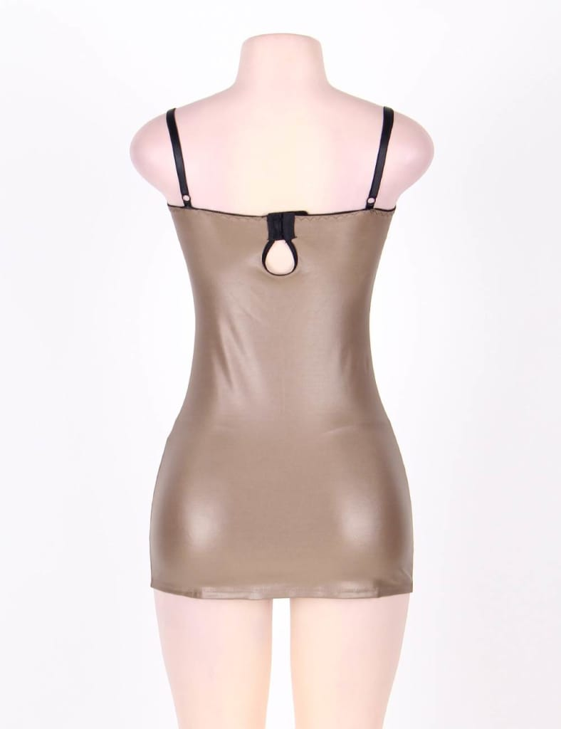 Light Brown Gorgeous Leather Chemise