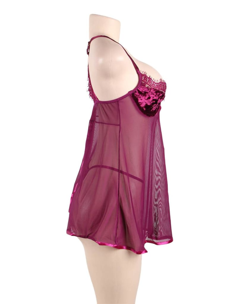 Featuring Velvet Underwire Cups With A Scalloped Lace Trim