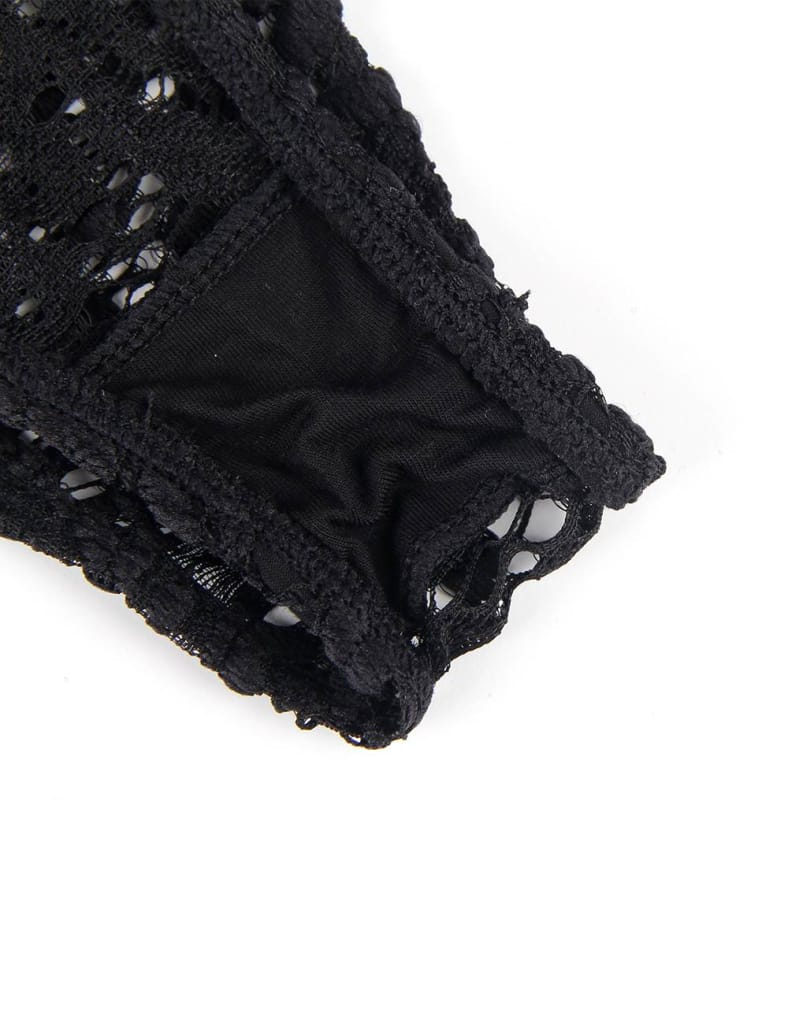 Push-up Cup Black Lace Teddy